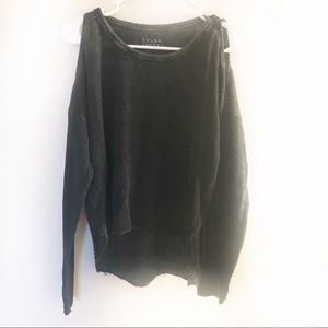 Tyler Jacobs Feel the Piece Cold Shoulder Sweater